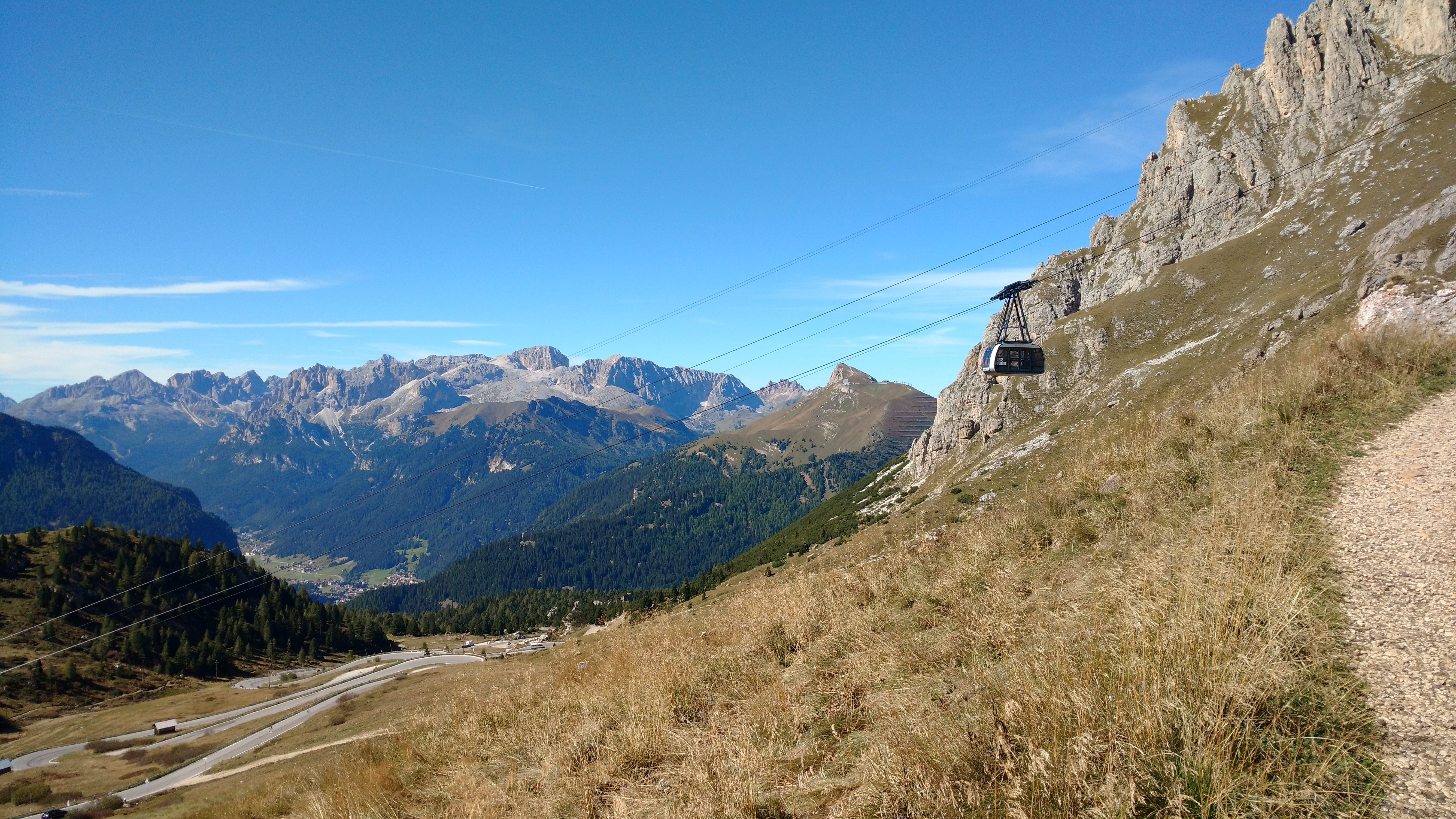 hiking the top of the dolomite