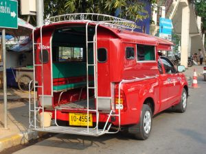Transport in Chiang Mai Red truck
